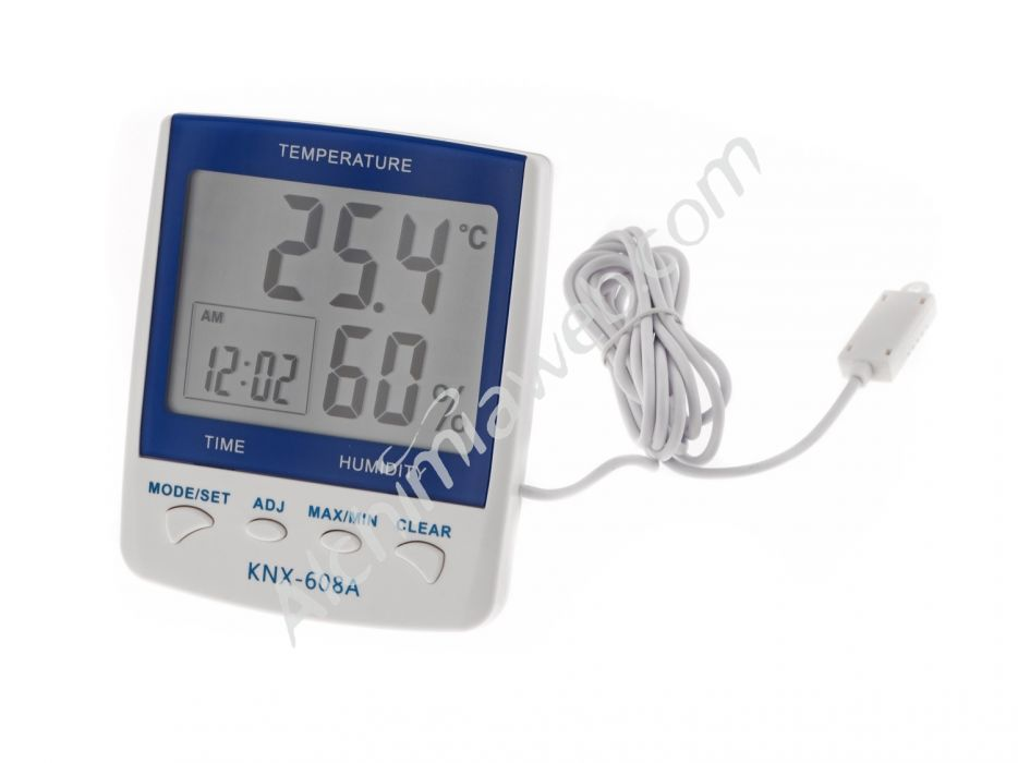 Indoor/Outdoor thermo hygrometer with external probe (Image: Alchimiaweb)